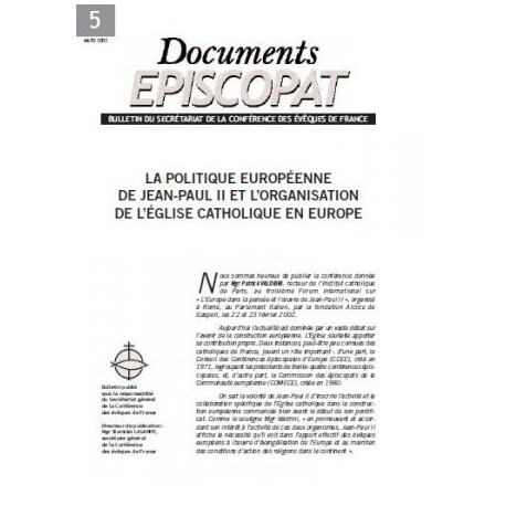 La politique européenne de Jean-Paul II