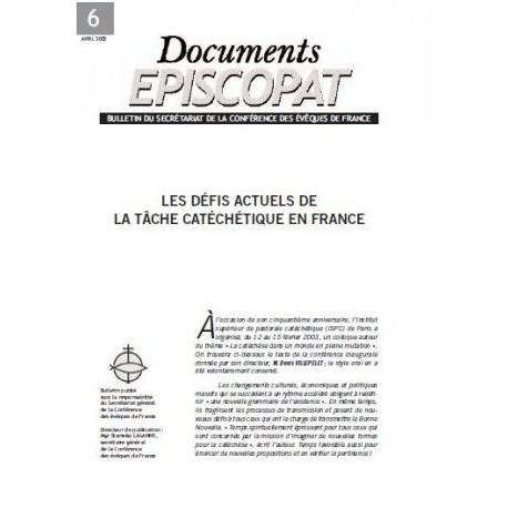 Les défis actuels de la tâche catéchétique en France