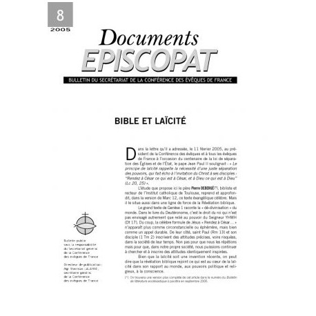 Bible et Laïcité
